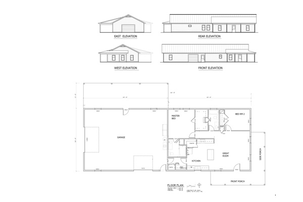 Custom floor plans and elevations country wide barns blueprint 14 malvernweather Image collections